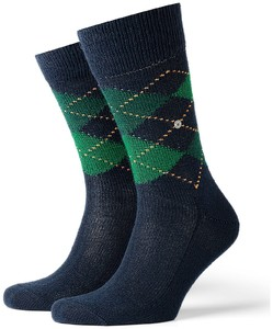 Burlington Preston Socks Deep Navy Melange