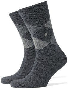 Burlington Preston Socks Grey Melange Black