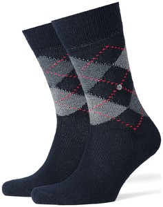 Burlington Preston Socks Marine Sky