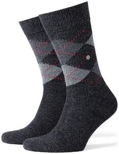 Burlington Preston Sokken Diep Antraciet Melange