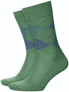 Burlington Preston Sokken Khaki Green