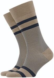 Burlington Stripe Socks Burning Sand