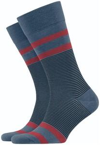 Burlington Stripe Socks China Blue