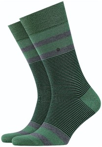Burlington Stripe Socks Khaki Green