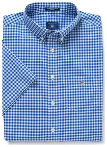 Gant The Broadcloth Gingham Short Sleeve Yale Blue