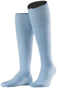 Falke No. 2 Finest Cashmere Kniekousen Sky Blue Melange