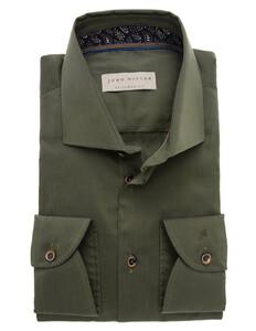John Miller Fashionable Green Fine-Contrast Donker Groen