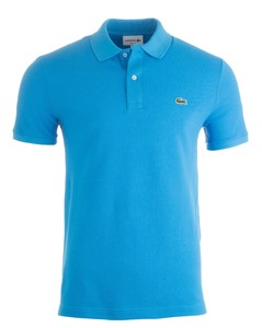 Lacoste Slim-Fit Piqué Polo Ibiza Blue
