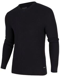 Cavallaro Napoli Aranido V-Neck Pullover Black