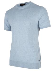 Cavallaro Napoli Ascanio Tee T-Shirt Licht Blauw