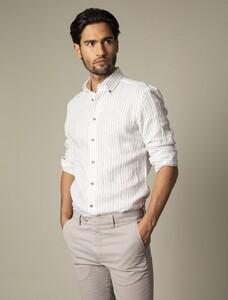 Cavallaro Napoli Berlo Overhemd Wit-Bruin