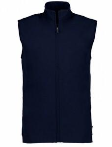 Cavallaro Napoli Caldonazzo Waistcoat Cardigan Dark Evening Blue