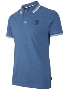 Cavallaro Napoli Camillo Polo Poloshirt Mid Blue