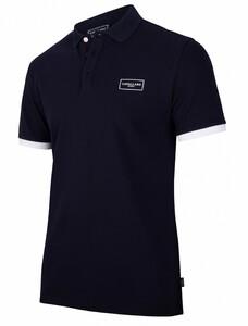 Cavallaro Napoli Cavallaro Sport Polo Poloshirt Dark Evening Blue