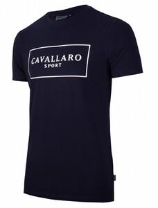 Cavallaro Napoli Cavallaro Sport R-Neck Tee T-Shirt Donker Blauw