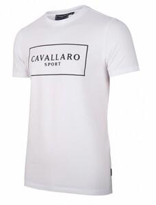 Cavallaro Napoli Cavallaro Sport R-Neck Tee T-Shirt Wit