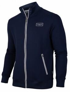 Cavallaro Napoli Cavallaro Sport Zip Sweat Cardigan Dark Evening Blue