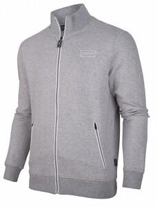 Cavallaro Napoli Cavallaro Sport Zip Sweat Cardigan Light Grey