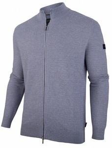 Cavallaro Napoli Celino Cardigan Vest Midden Blauw