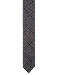 Cavallaro Napoli Cravatta Lana Check Tie Grey
