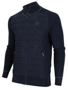 Cavallaro Napoli Cremo Cardigan Vest Donker Blauw