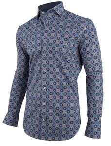 Cavallaro Napoli Danilo Overhemd Blauw