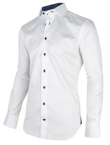 Cavallaro Napoli Duna Overhemd Wit-Navy