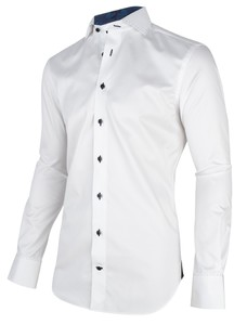 Cavallaro Napoli Duna Shirt White-Navy