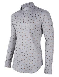 Cavallaro Napoli Ferrano Overhemd Midden Grijs