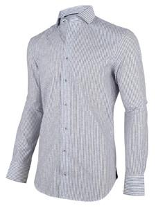 Cavallaro Napoli Fiore Shirt White-Blue