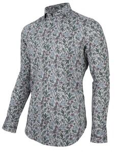 Cavallaro Napoli Florado Overhemd Licht Grijs