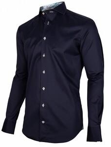 Cavallaro Napoli Folero Overhemd Donker Blauw