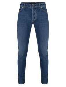 Cavallaro Napoli Fresco Denim Jeans Mid Blue
