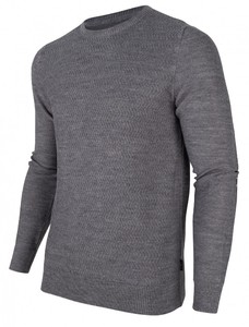 Cavallaro Napoli Furlo Pullover Uni Structure Pullover Mid Grey