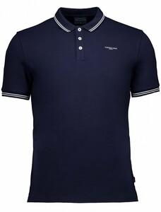 Cavallaro Napoli Garmino Polo Poloshirt Dark Evening Blue