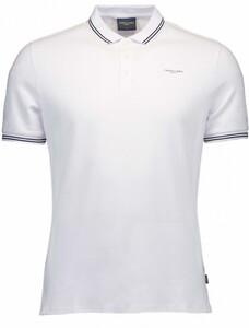 Cavallaro Napoli Garmino Polo Poloshirt Optical White