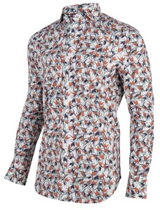 Cavallaro Napoli Gennaro Overhemd Wit-Oranje