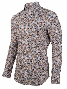 Cavallaro Napoli Giardino Overhemd Donker Bruin