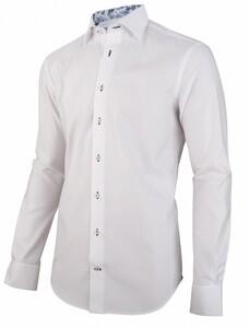 Cavallaro Napoli Jeno Overhemd Wit-Midden Blauw