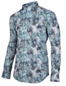Cavallaro Napoli Lavino Overhemd Midden Blauw