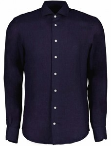 Cavallaro Napoli Leo Overhemd Donker Blauw