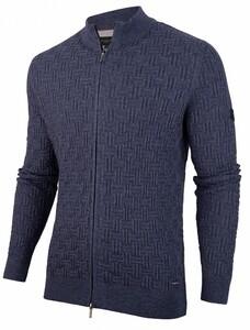 Cavallaro Napoli Maggio Cardigan Faux Uni Structure Cardigan Mid Blue