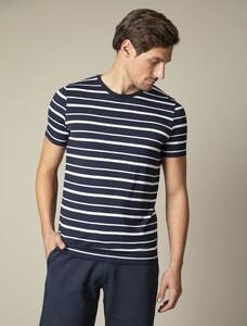 Cavallaro Napoli Marino R-Neck Tee T-Shirt Donker Blauw