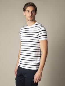 Cavallaro Napoli Marino R-Neck Tee T-Shirt Wit