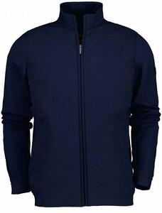 Cavallaro Napoli Mattarello Zip Jacket Cardigan Dark Evening Blue