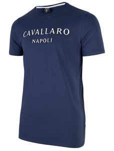 Cavallaro Napoli Miraco Tee T-Shirt Dark Evening Blue