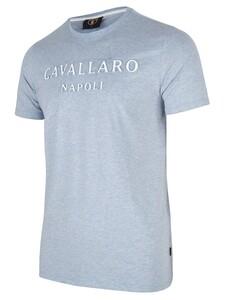 Cavallaro Napoli Miraco Tee T-Shirt Licht Blauw