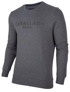 Cavallaro Napoli Mirko Sweat Trui Donker Grijs
