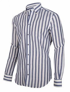 Cavallaro Napoli Nago Overhemd Midnight Blue