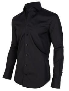 Cavallaro Napoli Nero Sleeve 7 Overhemd Zwart